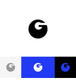 g minimalism logo bold letter g vector image