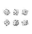 gambling game dice casino craps realistic set vector image