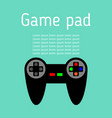 game joystick in flat design game pad icon vector image