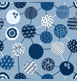 geometric seamless background blue textured vector image
