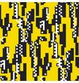 glitch geometric flat seamless pattern vector image