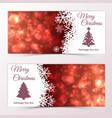 glittering horizontal christmas banners vector image