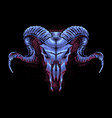 goat skull head art vector image