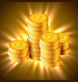 golden coins concept of vector image vector image