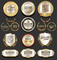 golden luxury badges retro design collection vector image vector image