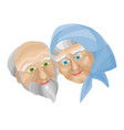 grandparents doing morning exercises vector image