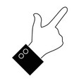 hand pointing gesture vector image