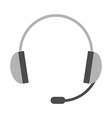 Headset headphones with microphone vector image