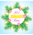 hot summer1 vector image vector image