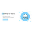 internet things icon banner outline template vector image