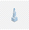 isolated tower isometric cityscape element vector image vector image