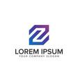 letter z modern logo design concept template vector image vector image