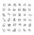 line arts icons set linear icons vector image vector image