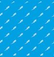 lizard pattern seamless blue vector image vector image