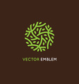 Logo design template in green color