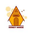 logo honey house vector image