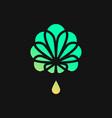 logo of medical cannabis vector image