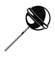 lollipop icon simple style vector image vector image