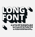 long shadow font retro boldness 3d alphabet old vector image