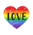 love gay pride emblem vector image vector image