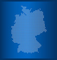 matrix map of map of germany vector image