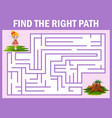 maze game finds the fairy way to the home vector image vector image