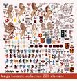 mega collection heraldic elements vector image vector image