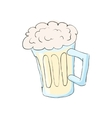 Mug with beer icon cartoon style vector image vector image