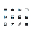 Office duotone icons on white background vector image vector image