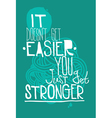 Poster on a blue background with quote vector image vector image