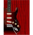 Quality Wood Guitar vector image vector image