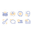 recruitment online test and talk bubble icons set vector image vector image