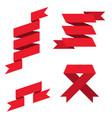 red paper scrolls set vector image vector image