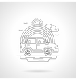 Ride car detailed line vector image vector image