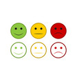scale of emotions from red to green vector image vector image