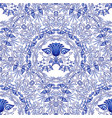 seamless blue pattern repeating floral pattern of vector image vector image