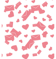 Seamless pattern with envelope and hearts vector image vector image