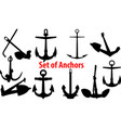 set anchors vector image