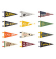 set of adventure pennants pennant explore flags vector image vector image