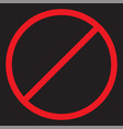 stop icon forbidden sign vector image vector image