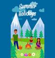 summer holidays lettering vertical flyer vector image vector image