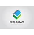 Template logo for real estate agency or cottage vector image vector image