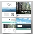 Templates for square design bi fold brochure