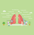 various lung disease with team doctor examine or vector image vector image