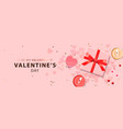 web banner for valentine day vector image vector image