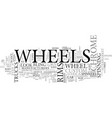 what s the hype about chrome wheels text word vector image vector image