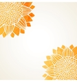 with watercolor sunflowers vector image vector image