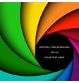Colorful rainbow swirl vector image