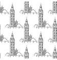 English Big Ben seamless pattern vector image