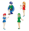 character of business butifull women on white back vector image